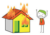 男の火の家 — ストックベクタ