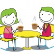 Couple coffee — Vector de stock #28090461