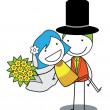 Couple wedding — Stock Vector