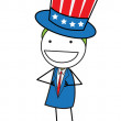 Uncle sam — Stock Vector #28090571