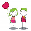 Dating couple — Imagen vectorial
