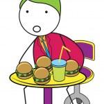 Man burger — Stock Vector