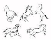Insieme di set di cavallo — Vettoriale Stock