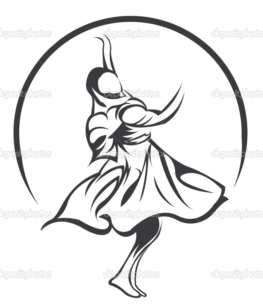 Kathak Dance Drawing India Dance Symbol — Vector by