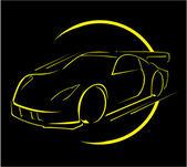 Car race — Stock Vector