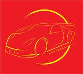 Carrera de coches — Vector de stock