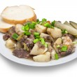 Stewed meat with potato — Stock Photo