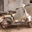 Stock Photo: Old, rusty motorcycle