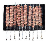 Kebab from chicken hearts — Stock Photo