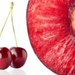 Half of ripe, juicy cherry — Stock Photo #27772675