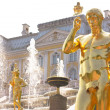 Detail of the Grand Cascade Fountain in Peterhof — 图库照片