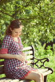 Happy pregnant woman — Stock Photo