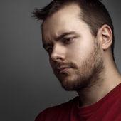 Portrait not the shaven — Stock Photo