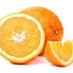 Whole orange fruit and his segments — Stock Photo #45902733