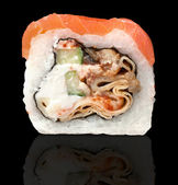 Salmon sushi roll — Stock Photo