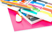 Back to school. School tools. Isolated. — Stock Photo