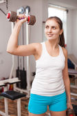 Girl in the gym — Stock Photo