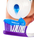 Tooth brush with tooth paste — Stock Photo