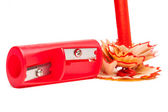 Sharpener and red — Foto de Stock