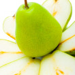 Green sliced pear  — Stockfoto