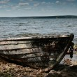 Boat on the beach — Stock Photo