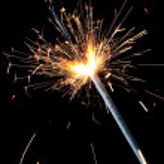 New Year sparkler — Stock Photo #35252761