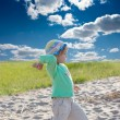 Stock Photo: Little girl on beach