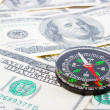Dollar and compass — Stock Photo
