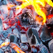 Barbecue charcoals — Stock Photo