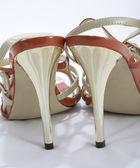 Brown shoes on a high heels — Foto de Stock