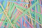Close-up of straw tubes — Stock Photo