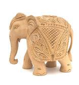 Wooden elephant sculpture — Stock Photo
