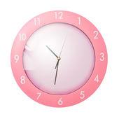 Różowy zegar — Zdjęcie stockowe