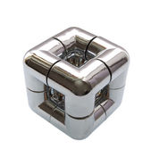 Decorative chrome cube — Stock Photo