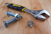 Wrench tool and nut — 图库照片