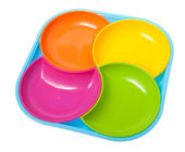 Multicolor set of plates — Stockfoto