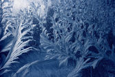 Frozen window texture — Stock Photo