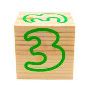 Wooden cube — Stock Photo