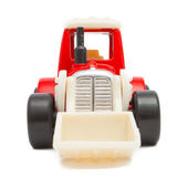 Red toy dozer — Stock Photo