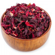Stock Photo: Bowl of aromatic Hibiscus tea