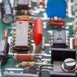 Stock Photo: Detail of electronic printed circuit board