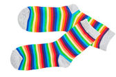 Multicolor child's socks — Stock Photo