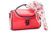 Red women bag — Stock Photo