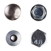 Screw heads, nuts, rivets — Stock Photo