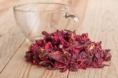 Red karkade floral tea — Foto Stock