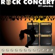 Rock concert wallpaper with Guitar Combo and volume knob — Stock Vector #10518775