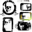 Skull grunge banner - set — Stock Vector #10998223