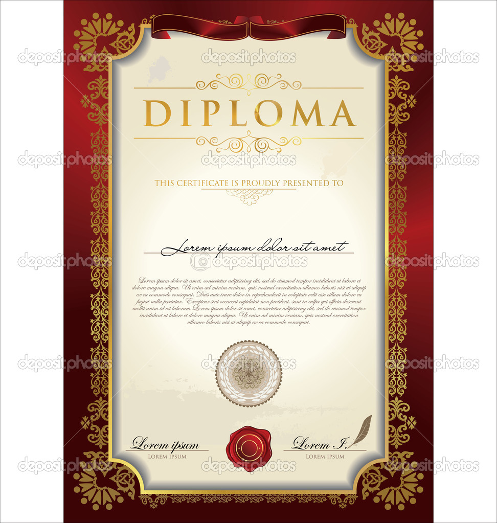 Diploma template diploma for Diplomas and certificates templates