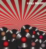 Vinyl Rules Retro Background — Stock Vector