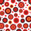 Seamless flower red retro background pattern in vector — Stock Vector #12082582